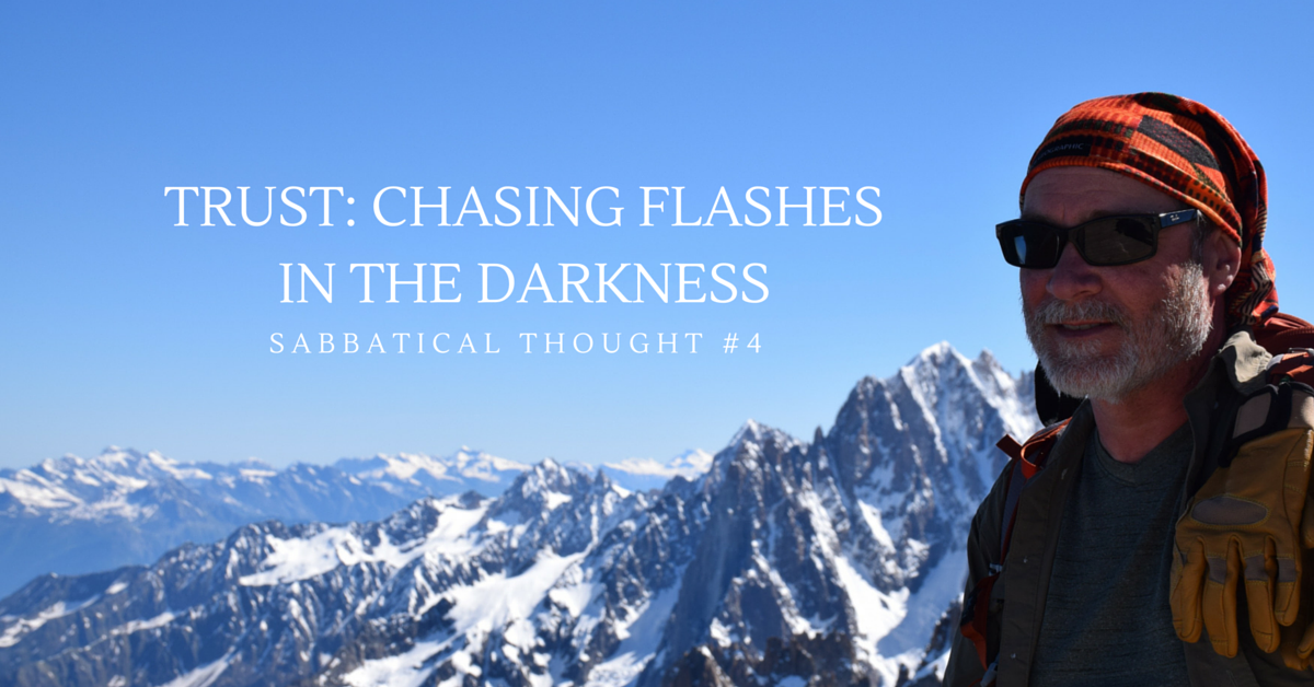 flashes in darkness