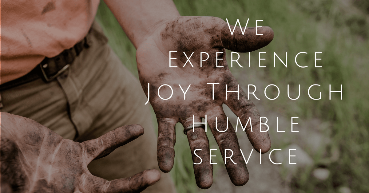 Experiencing joy through humility